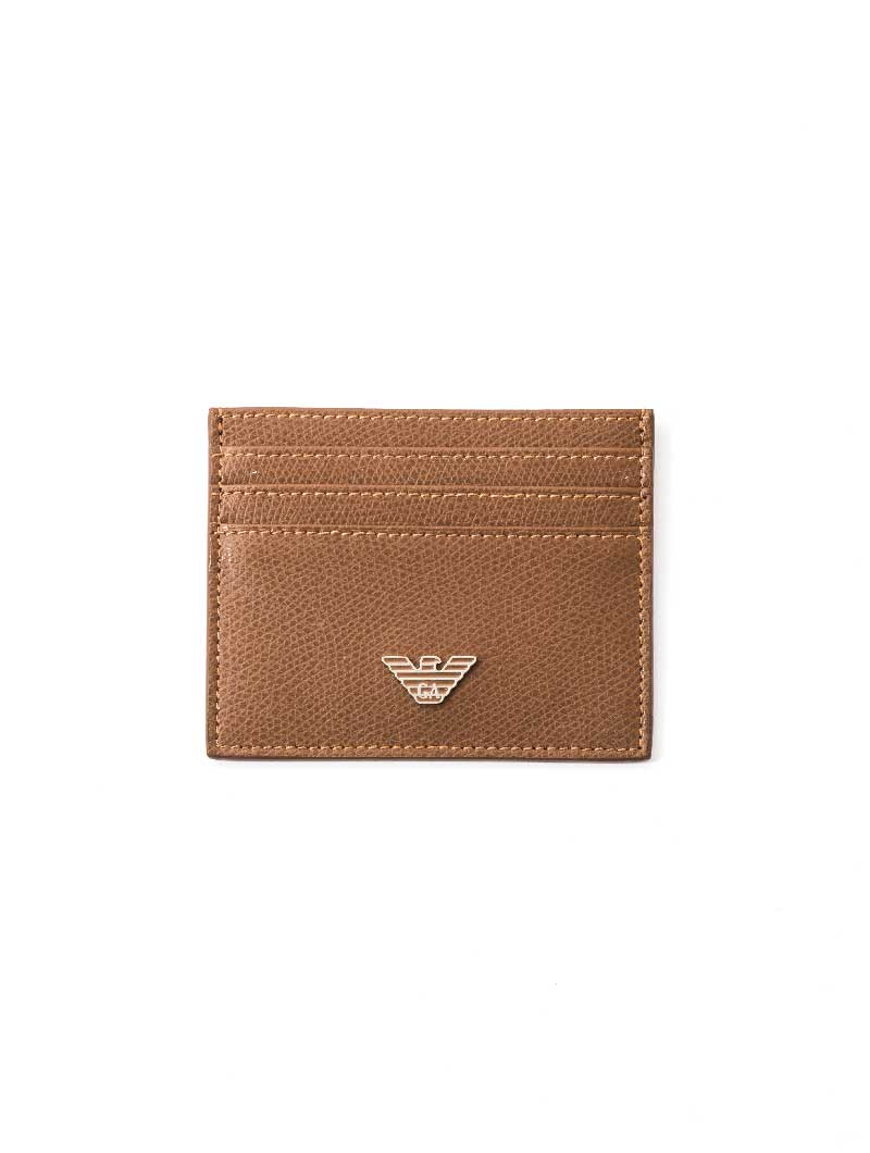 MAN LEATHER CARD HOLDER IN MOKA