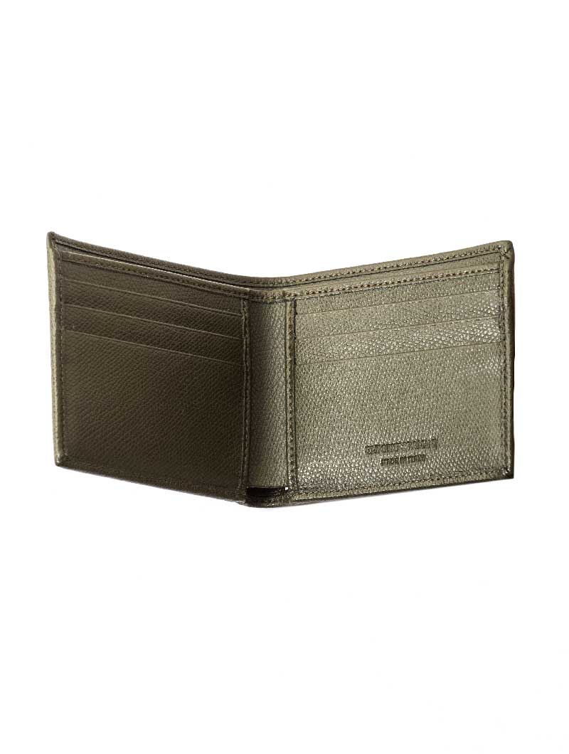 MAN LEATHER WALLET IN MILITARY