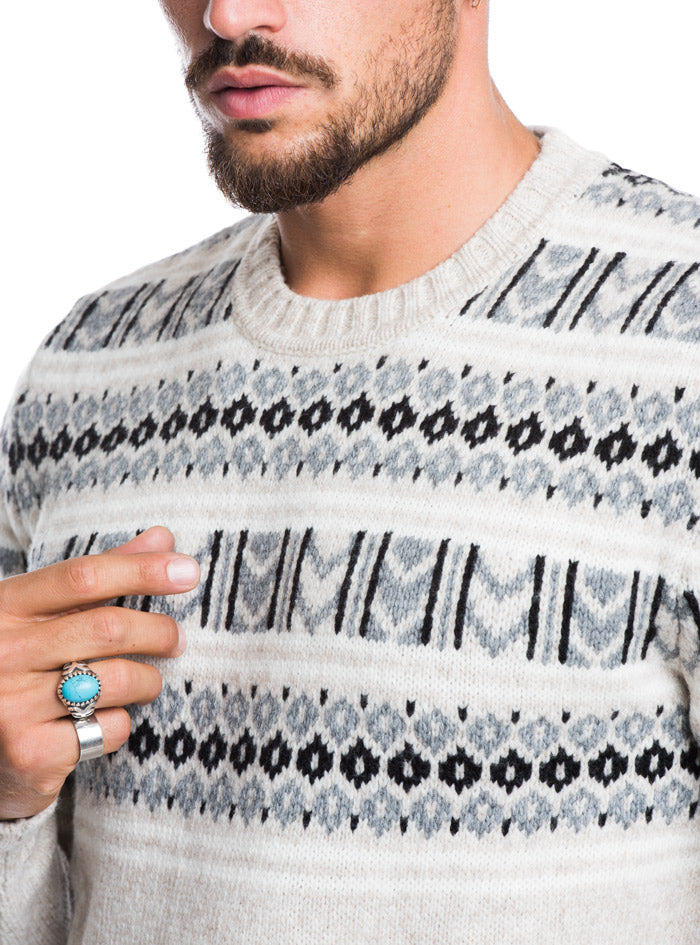 MEN'S CLOTHING | JAQUARD CREW NECK SWEATER | WOOLRICH