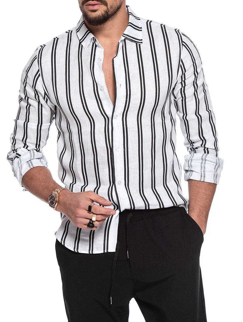 EFESTO STRIPED SHIRT IN BLACK AND WHITE