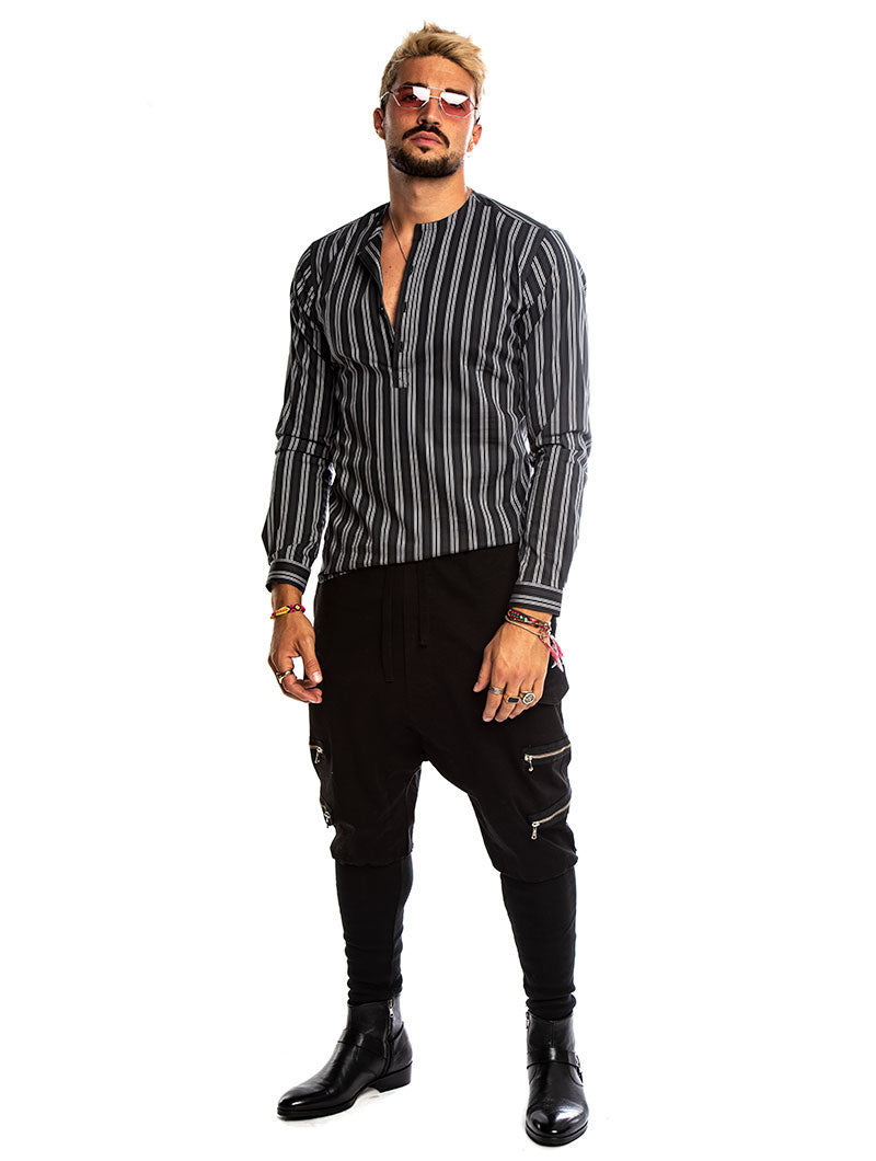 LARS STRIPED SHIRT IN GRAY