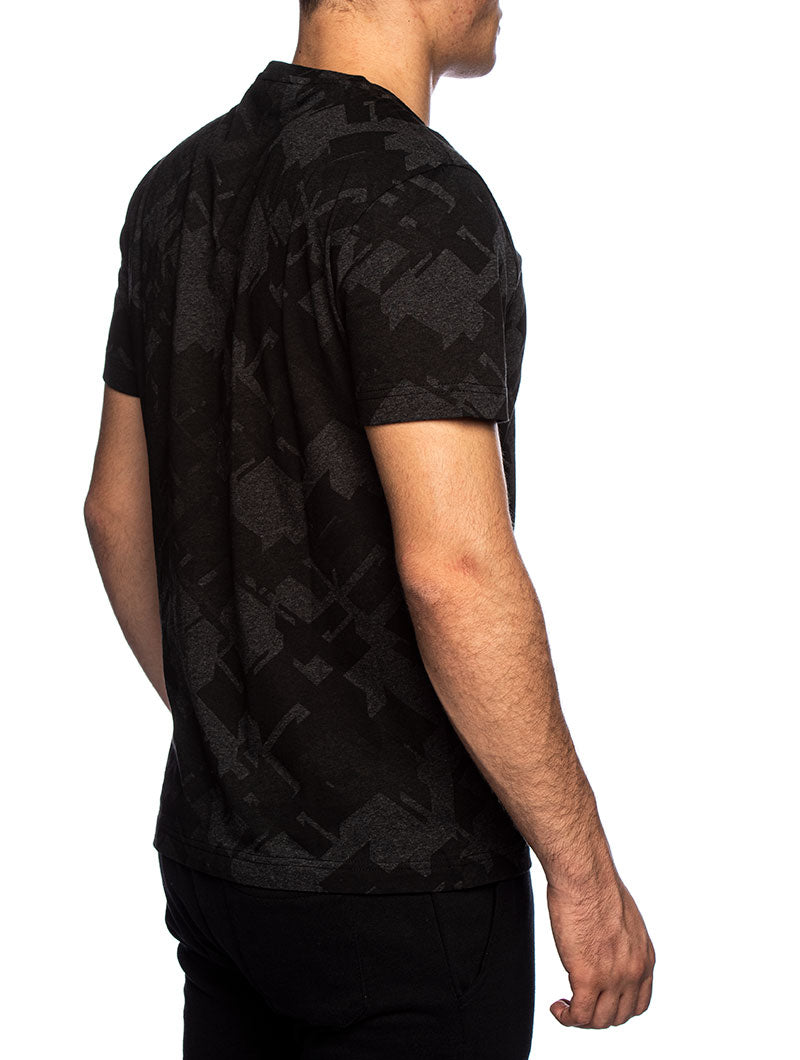 EA7 BASIC T-SHIRT IN BLACK CAMO