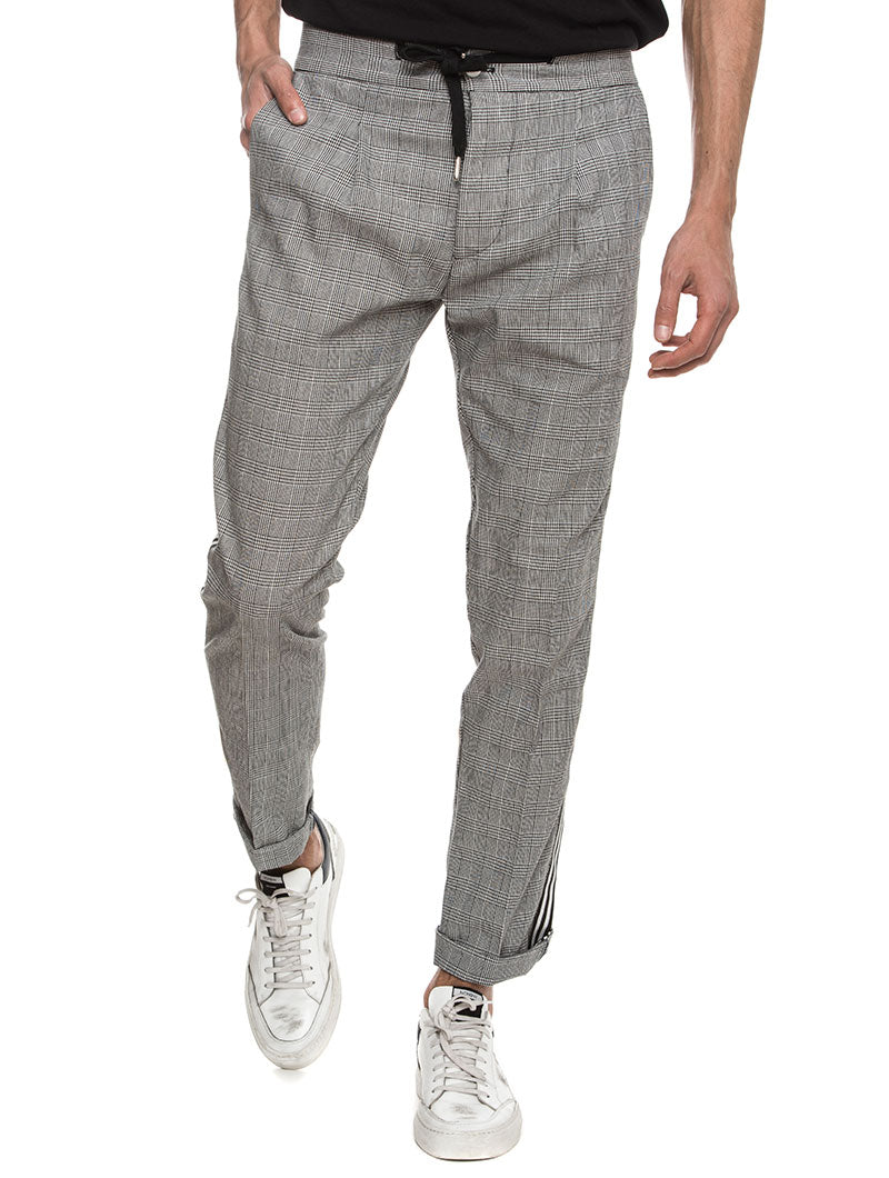 ERODE CHECKED JEANS IN GRAY