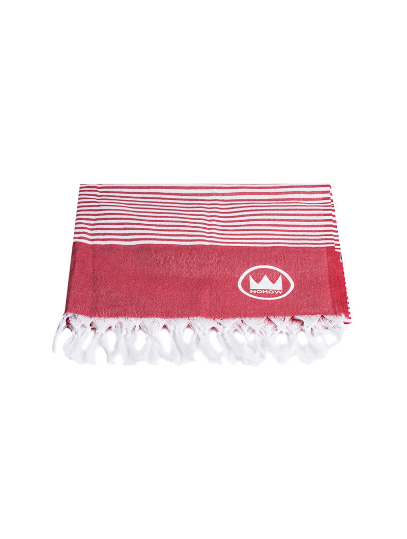 ACCESSORIES | RED NHW TOWEL | BEACH TOWEL | BEACH BLANKET | BEACHWEAR | 100% COTTON | #SUMMERVIBES | NOHOW
