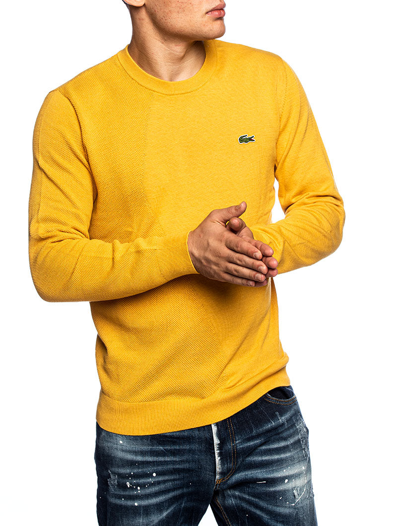 LACOSTE PULLOVER IN YELLOW