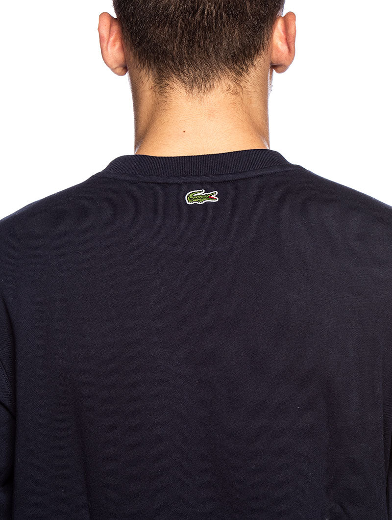 LACOSTE LOGO SWEATSHIRT IN BLUE