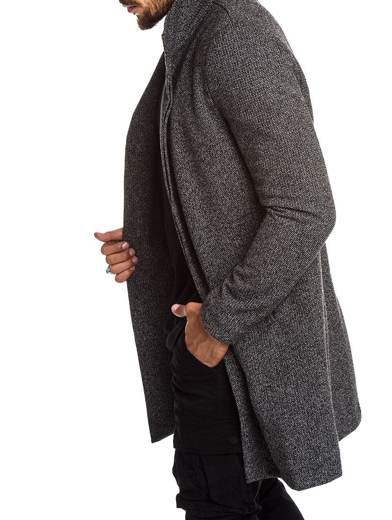 MEN'S CLOTHING | GREY OVERCOAT | COTTON MIX | NOHOW