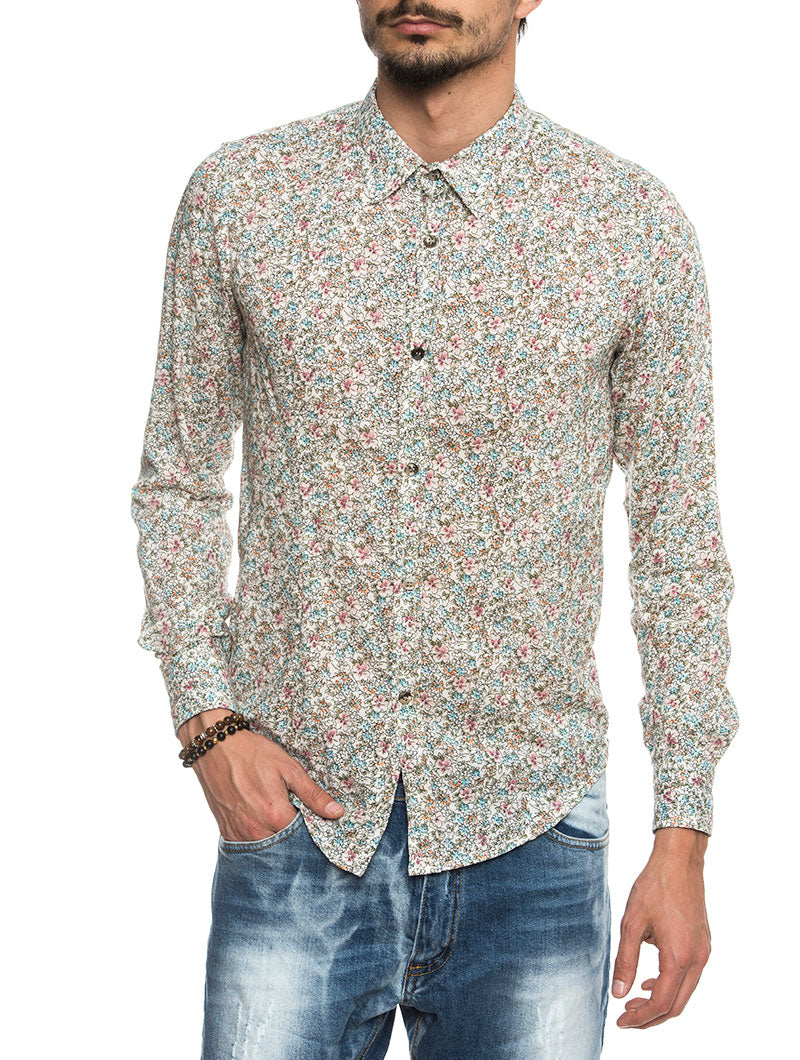 ERA COTTON SHIRT IN PRINTED FLOWERS