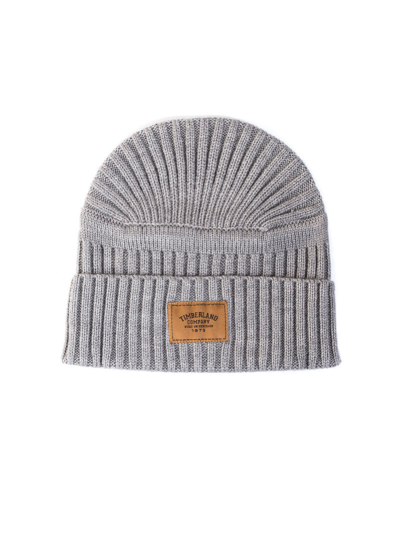 CULF BEACH RIBBED BEANIES IN LIGHT GREY