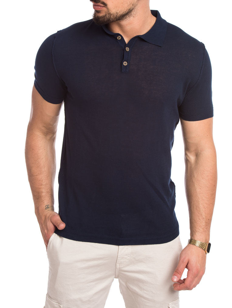 MEN'S CLOTHING | BLUE SOLID POLO | POLO T-SHIRT | CLASSIC BUTTONS PLACKET | NOHOW STREET COUTURE | NOHOW