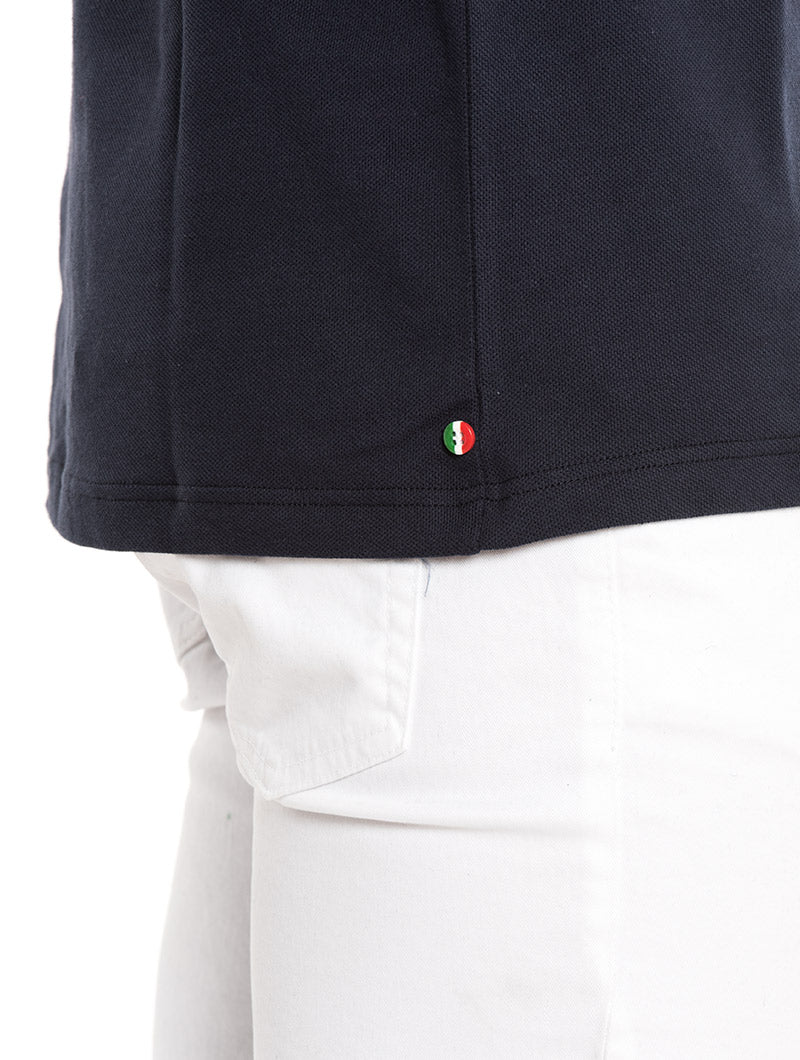 MICRO POCKET POLO IN BLUE