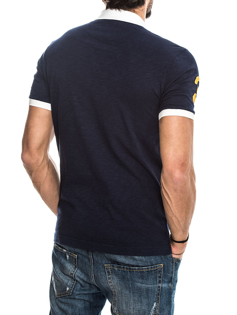 MAN SLUB NAVY POLO