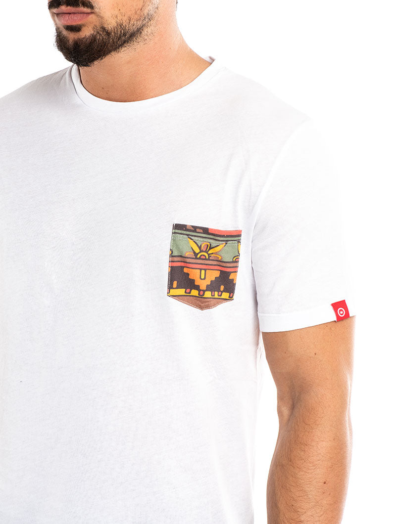 CALLIT POCKET T-SHIRT IN WHITE
