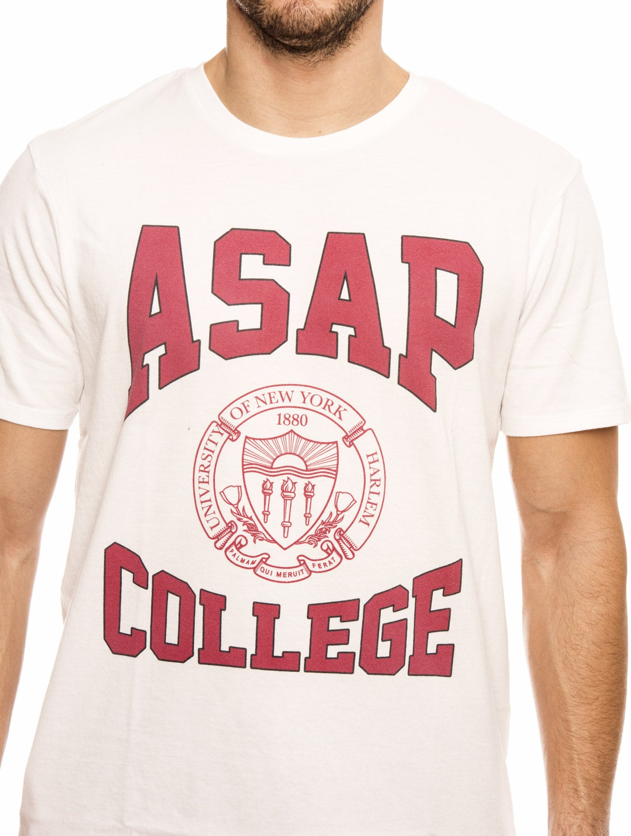 COLLEGE NASAP T-SHIRT IN WHITE