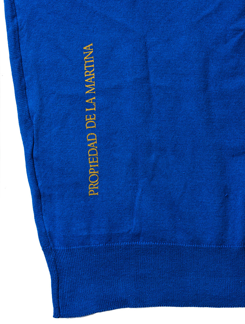 MAN SWATER NAUTICAL BLUE POLO