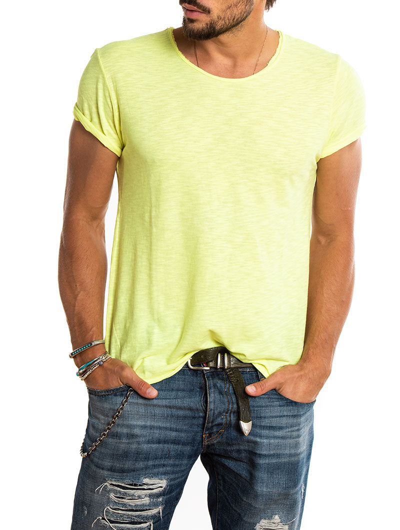 TAM T-SHIRT IN FLUO YELLOW