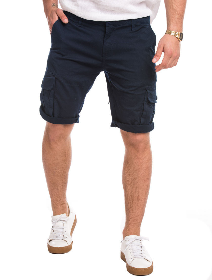 MEN'S CLOTHING | BLUE CARGO BERMUDA | COMBATS | COMBAT SHORTS | CARGO SHORTS | COTTON | NOHOW SUMMER COLLECTION | NOHOW