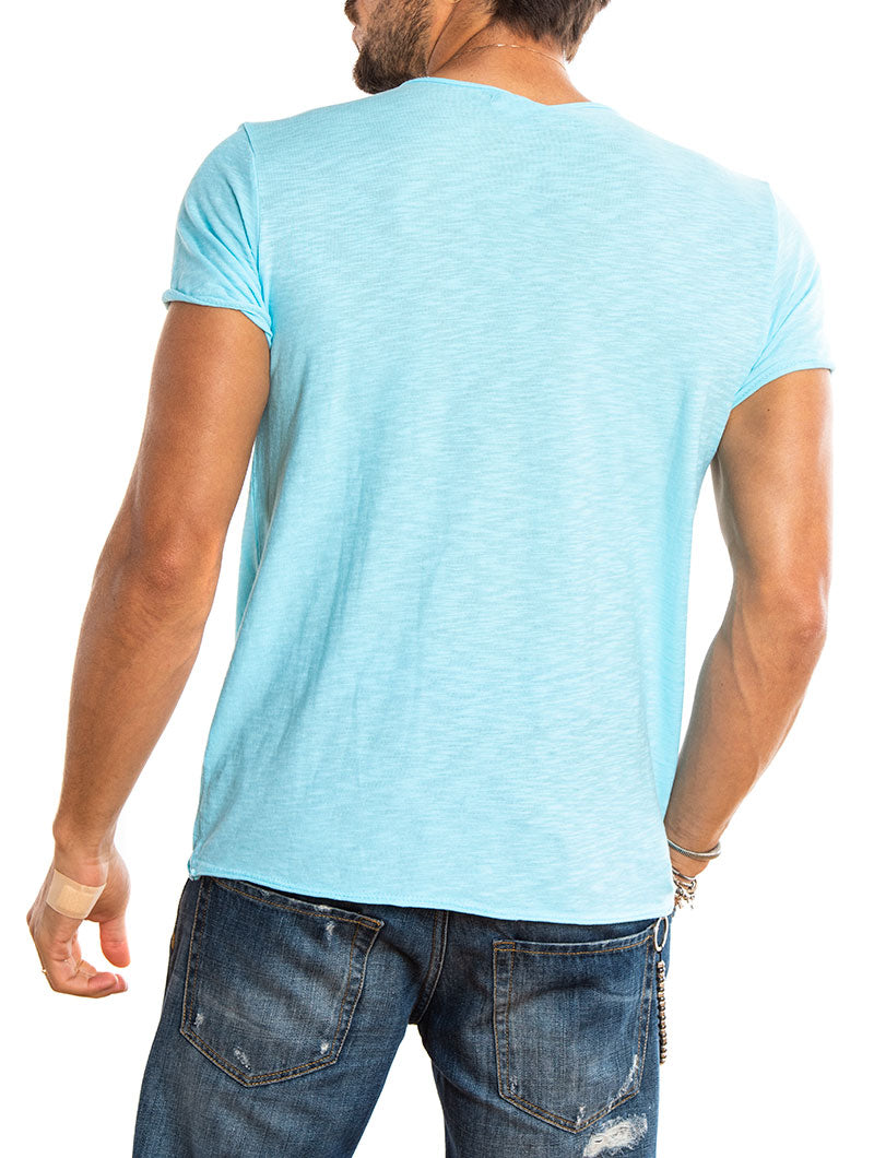 MENORCA T-SHIRT IN FLUO LIGHT BLUE