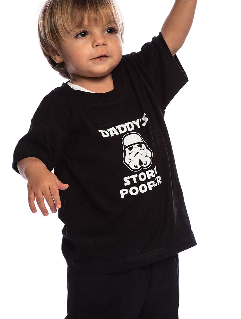 STORM POOPER KID'S T-SHIRT IN BLACK