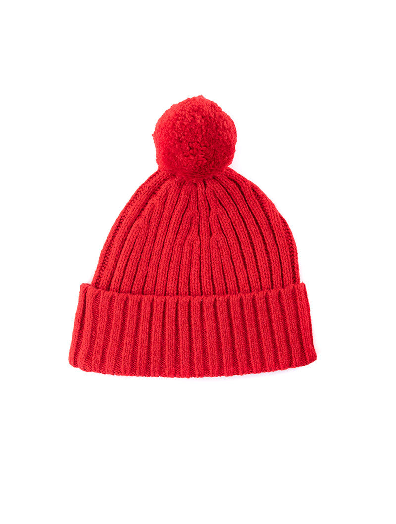 BIG FLAG BEANIE IN RED