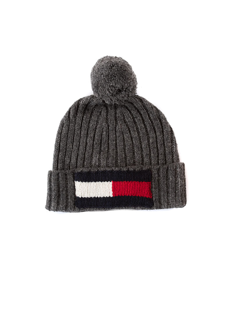 BIG FLAG BEANIE IN GREY