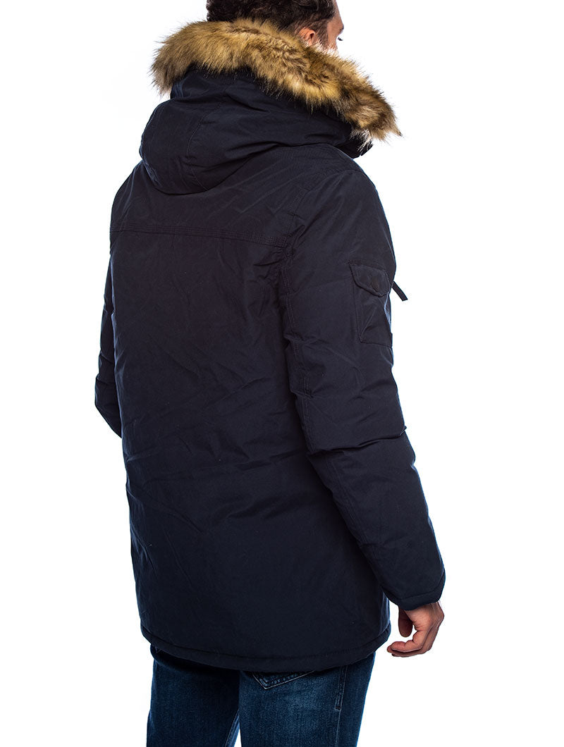 KELSEY COTTON PARKA IN BLUE
