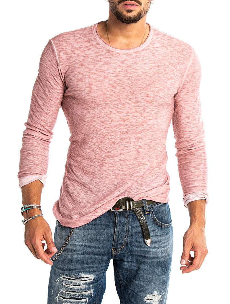 AALOK COTTON LONG-SLEEVE IN ROSE