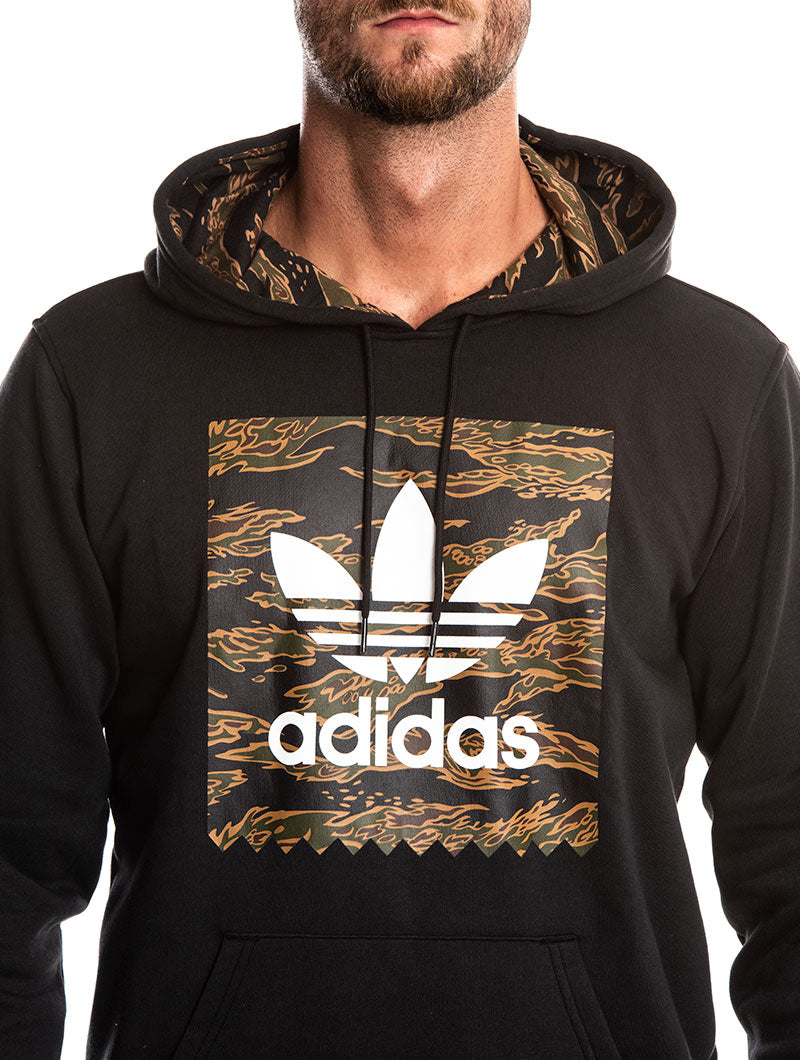 CAMO BB HOODIE IN BLACK