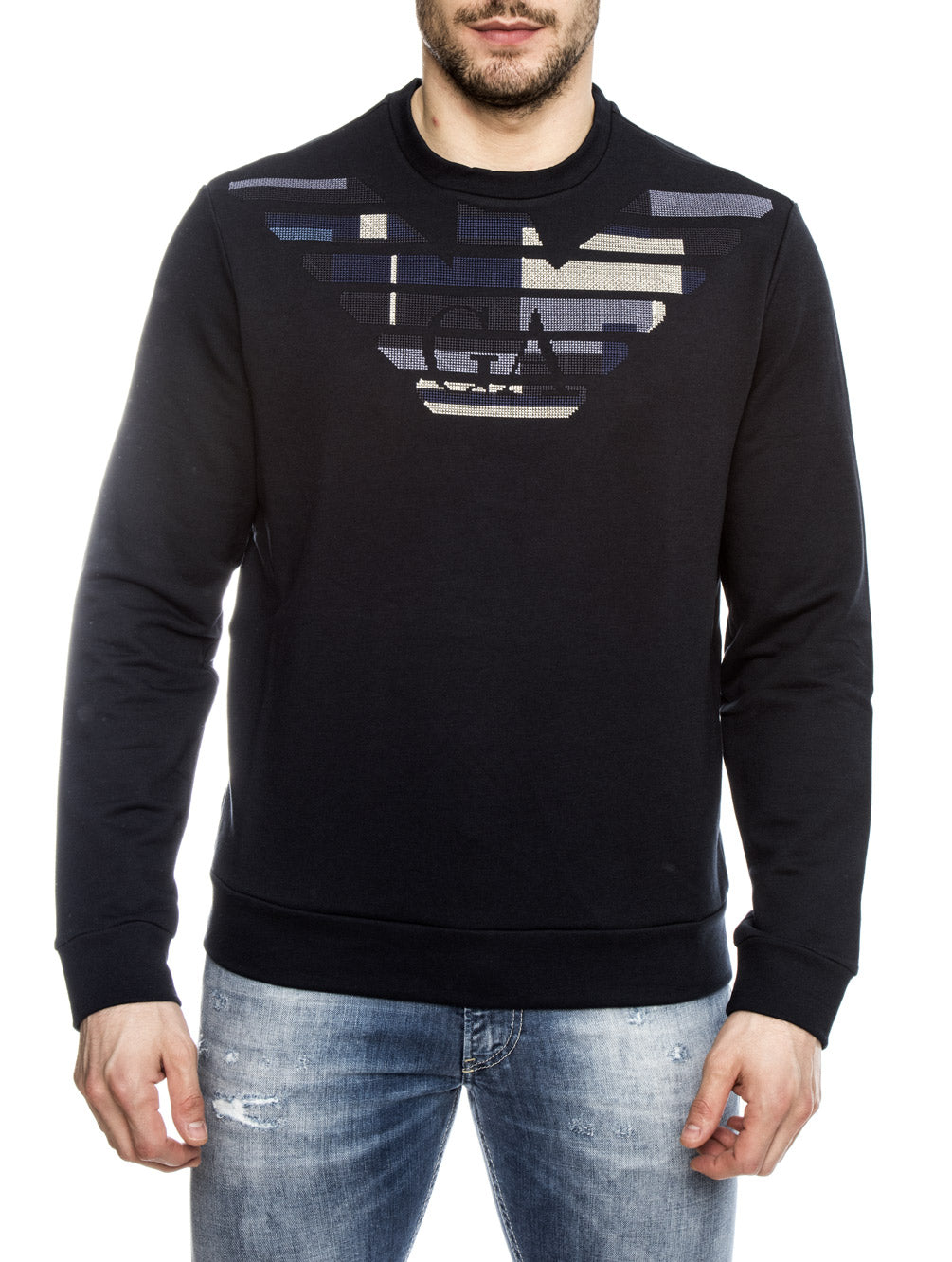 MAN JERSEY SWEATER IN BLUE NAVY