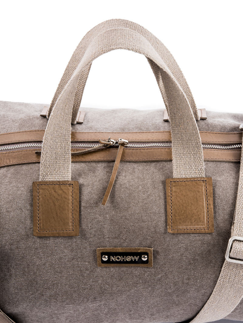 ACCESSORIES | BAGS | NATURE TRAVEL BAG | CANVAS AND LEATHER | HANDBAG | #SUMMERVIBES | NOHOW X MdV | NOHOW