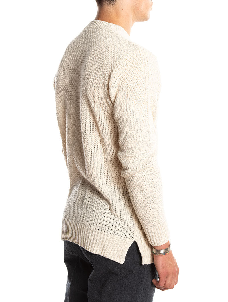 TEXTURED SWEATER IN BEIGE
