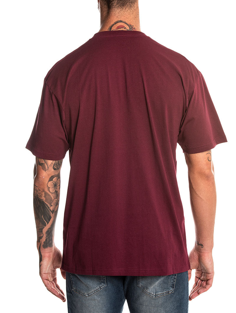 MN VANS PR T-SHIRT IN BORDEAUX