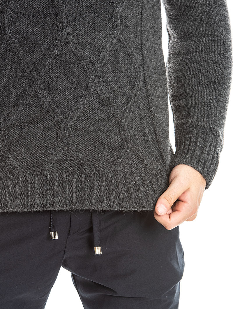 KANO ROLLNECK SWEATER IN WARM GREY