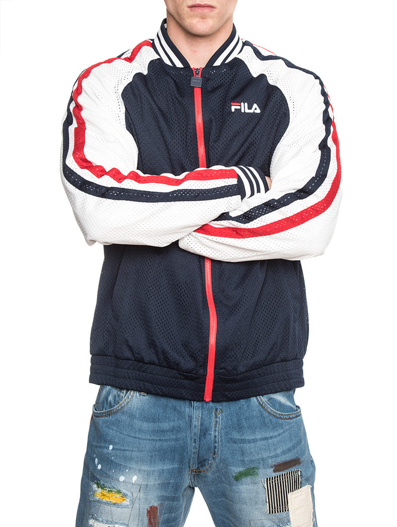 LUCAS TRACK JACKET IN BLUE AND WHITE