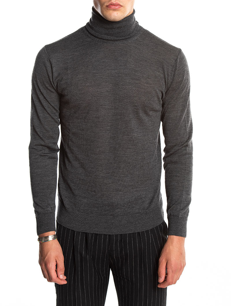 KOROS ROLL NECK JUMPER IN ANTHRACITE