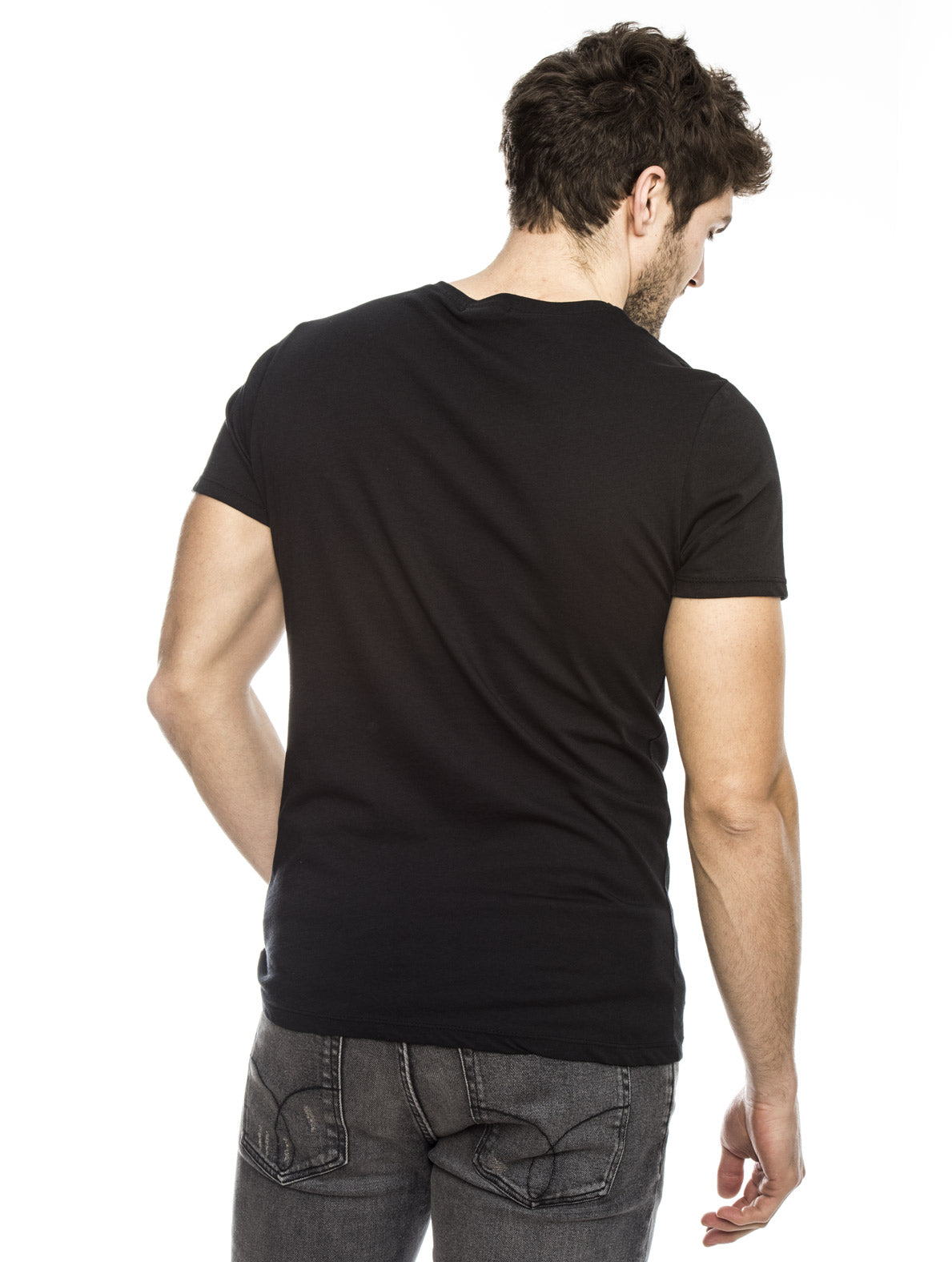 IPNO COTTON T-SHIRT IN BLACK
