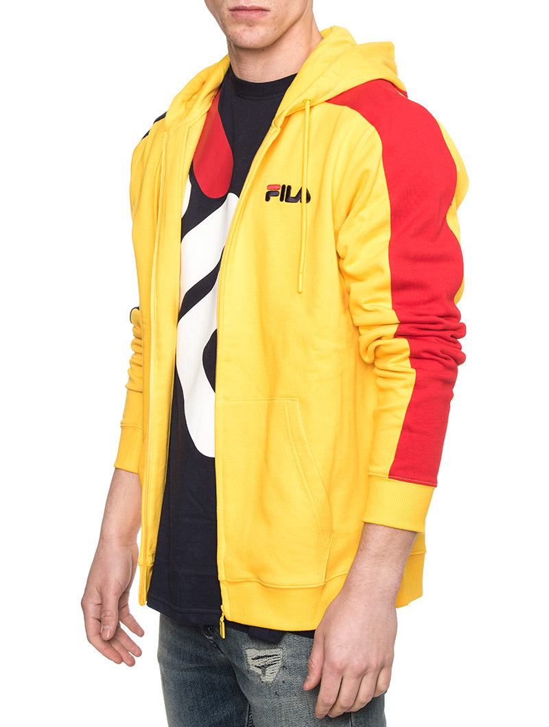 STAN CUT AND SEW HOODIE IN YELLOW