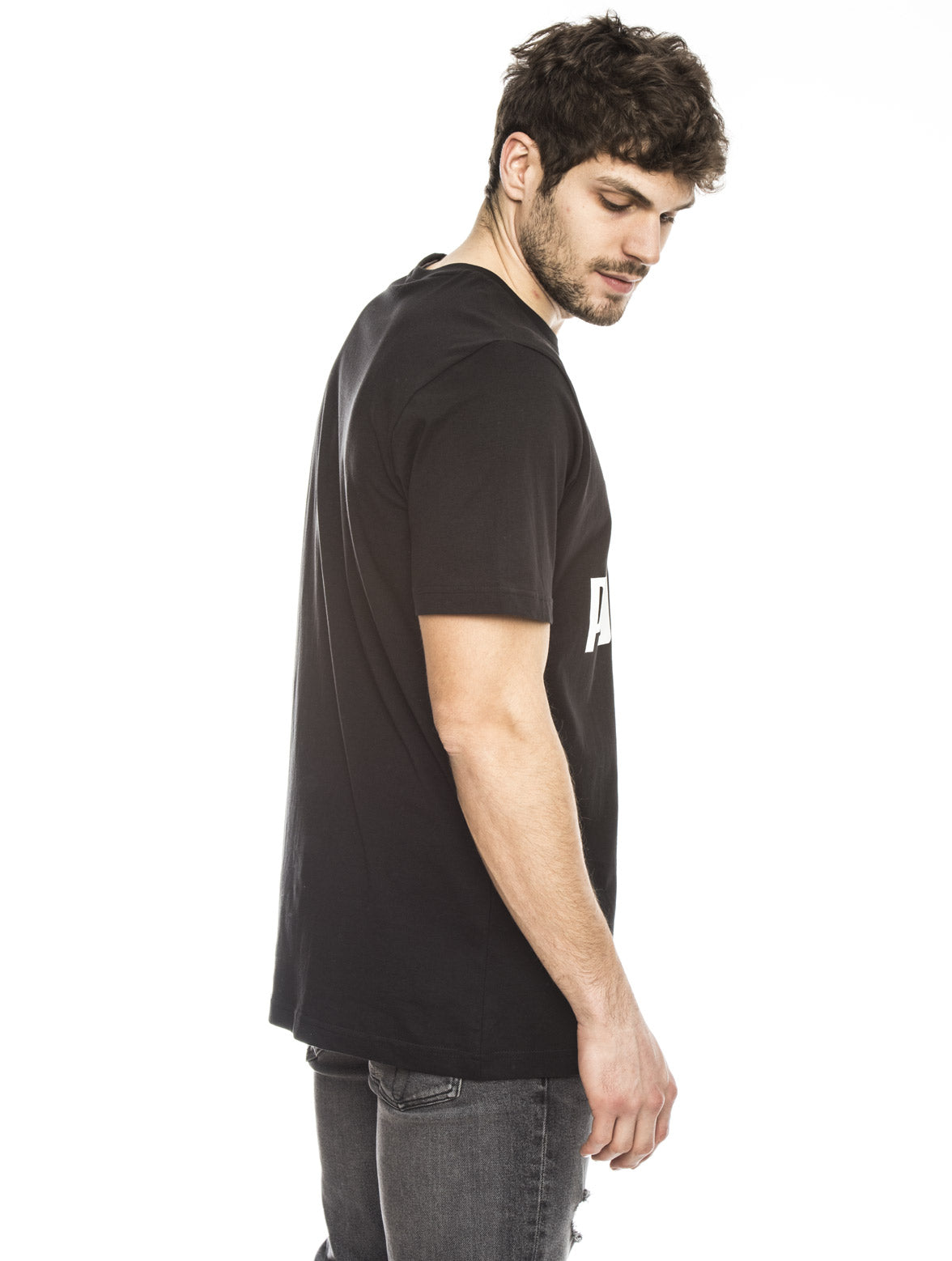 ARCHIVE LOGO COTTON TEE IN BLACK
