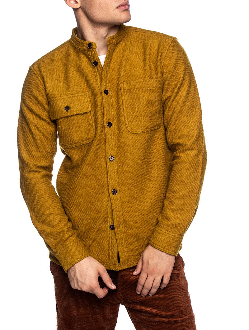 AKLUKAS SHIRT IN MUSTARD