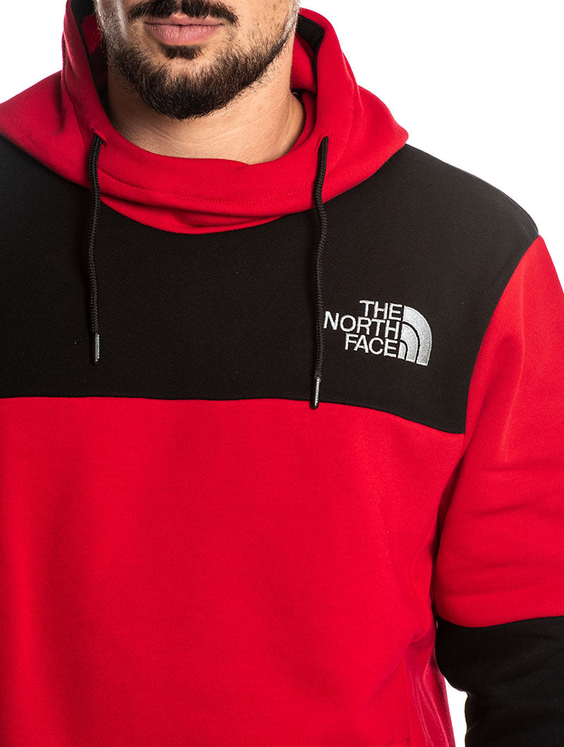 HIMALAYAN HOODIE IN RED AND BLACK