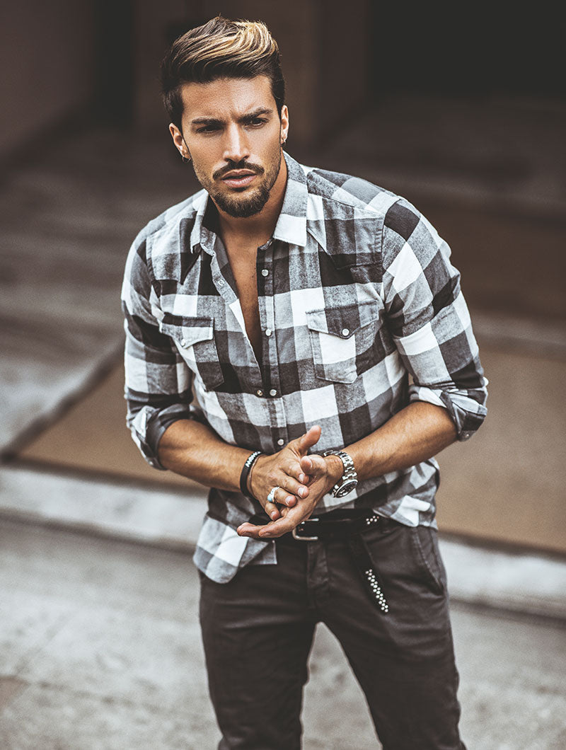 BLACK AND WHITE LUMBERJACK SHIRT