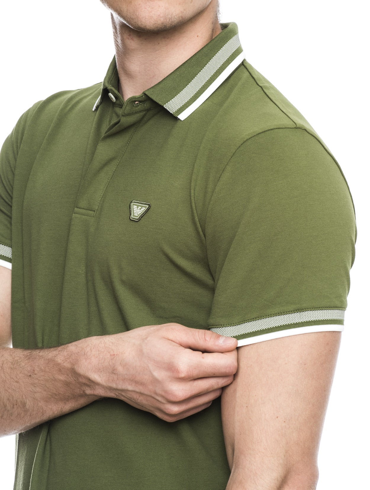 MAN JERSEY POLO IN GREEN