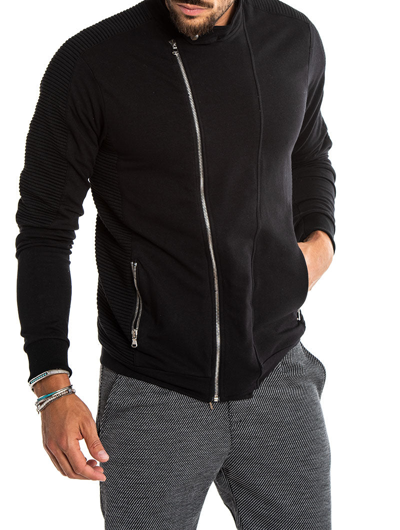 LUKE BIKER SWEATSHIRT IN BLACK