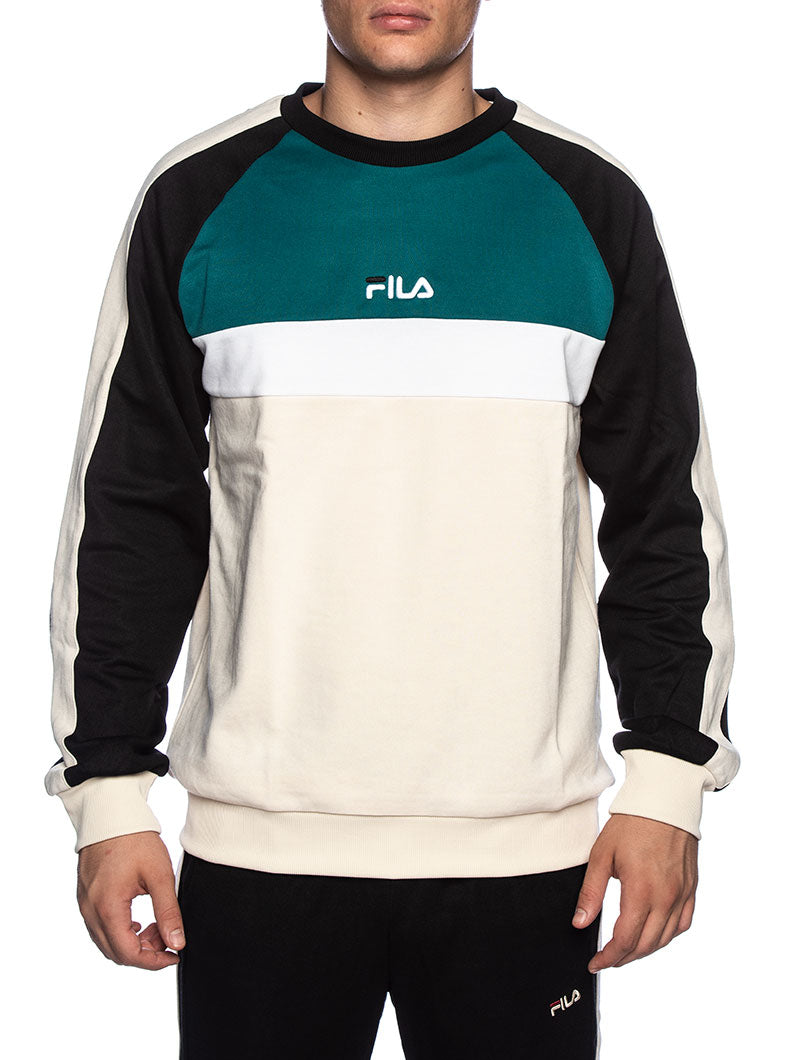 MEN PAAVO SWEATSHIRT IN CREAM AND GREEN