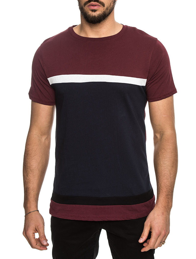 ADALIA COTTON TSHIRT IN BURGUNDY