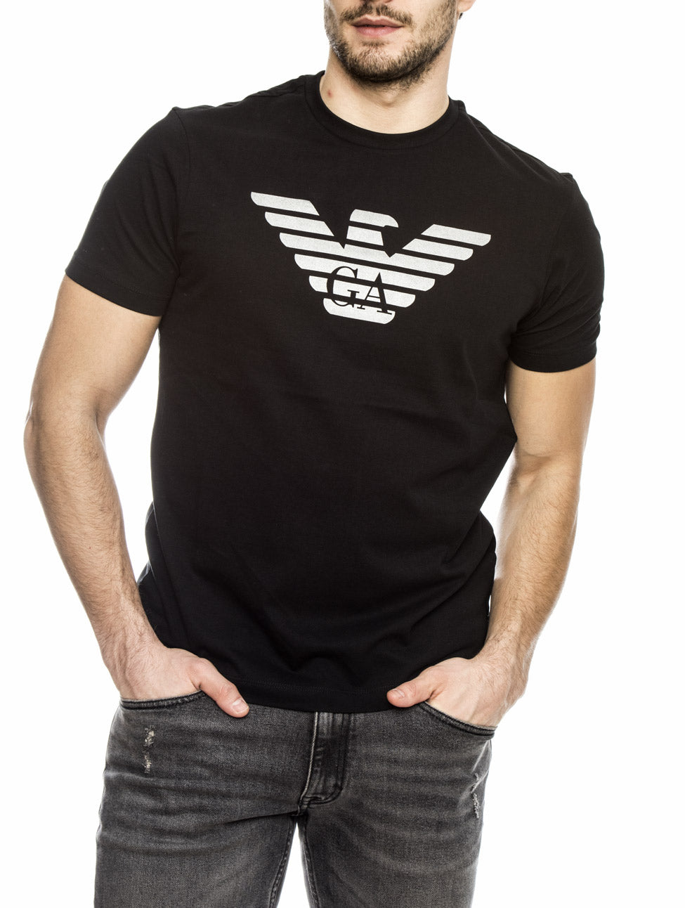MAN JERSEY T-SHIRT IN BLACK