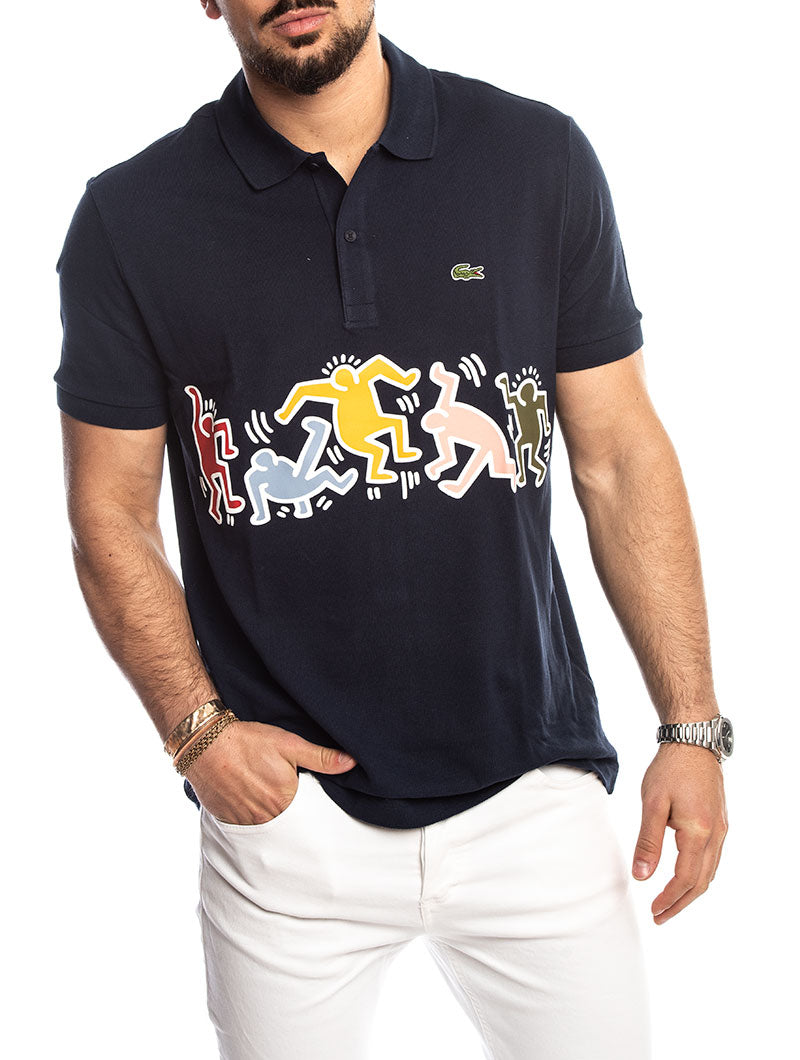 0669e0c0 KEITH HARING LACOSTE POLO IN BLUE – Nohow Style