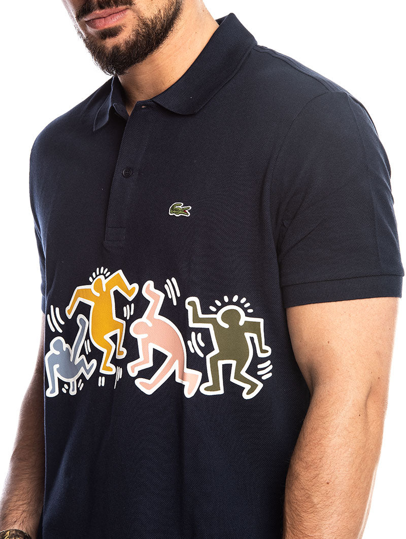 6b1dd7b8a3 KEITH HARING LACOSTE POLO IN BLUE – Nohow Style
