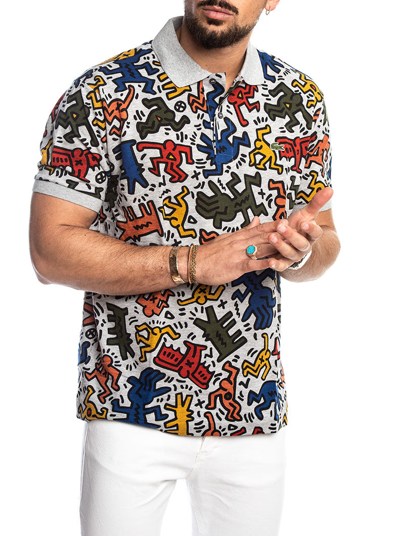 880f5045 KEITH HARING LACOSTE POLO IN FANTASY GREY – Nohow Style