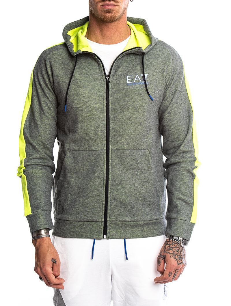 EA7 HOODIES IN GREY AND YELLOW